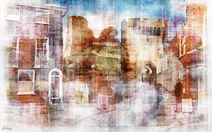 Lewes Castle Sussex Digital Art  - Lewes Castle Sussex Fine Art Print