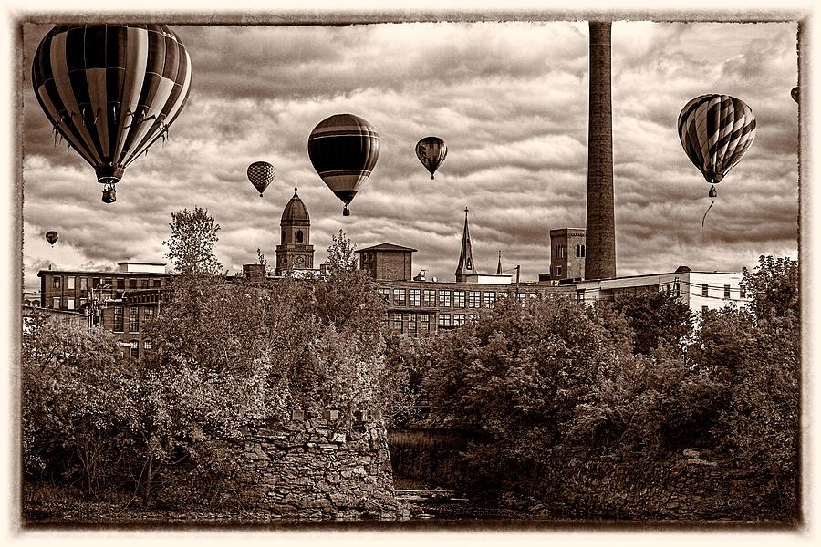 Hot Air Balloon Photograph - Lewiston Maine Hot Air Balloons by Bob Orsillo