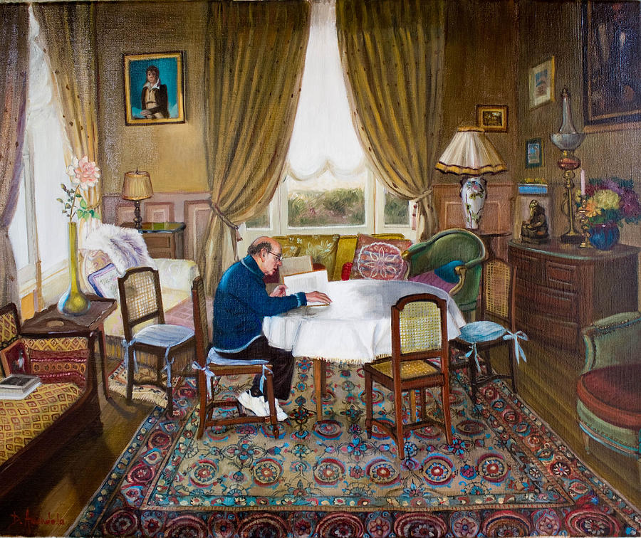 Interior Painting - Lhomme Qui Lit by Dominique Amendola