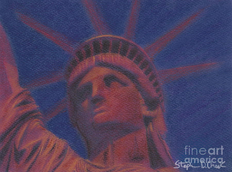 Liberty In Red Painting  - Liberty In Red Fine Art Print