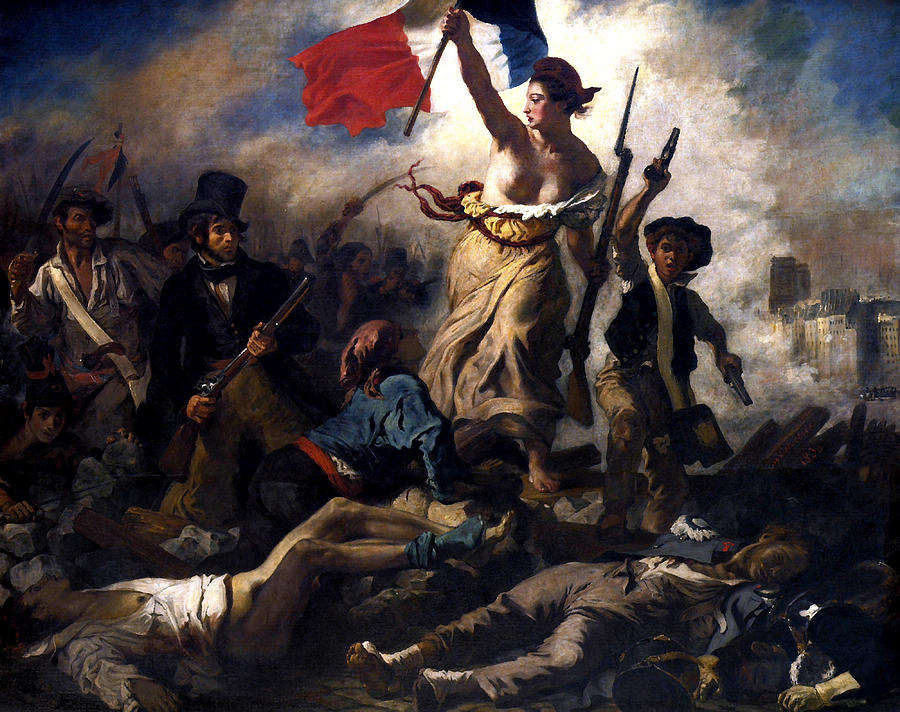 French Revolution Painting - Liberty Leading The People During The French Revolution by War Is Hell Store