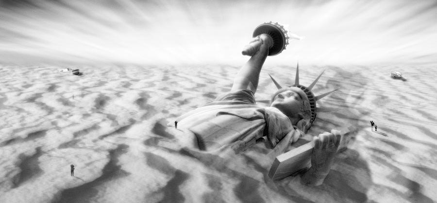Surrealism Photograph - Liberty Park II Panoramic by Mike McGlothlen