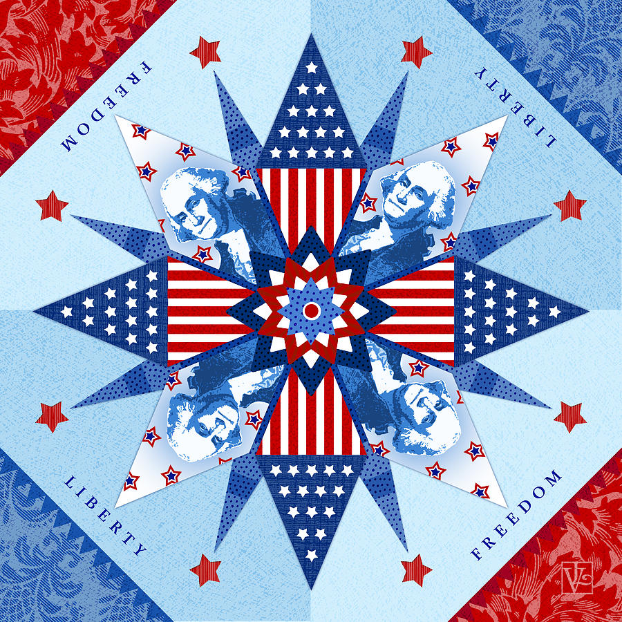 Liberty Quilt Digital Art
