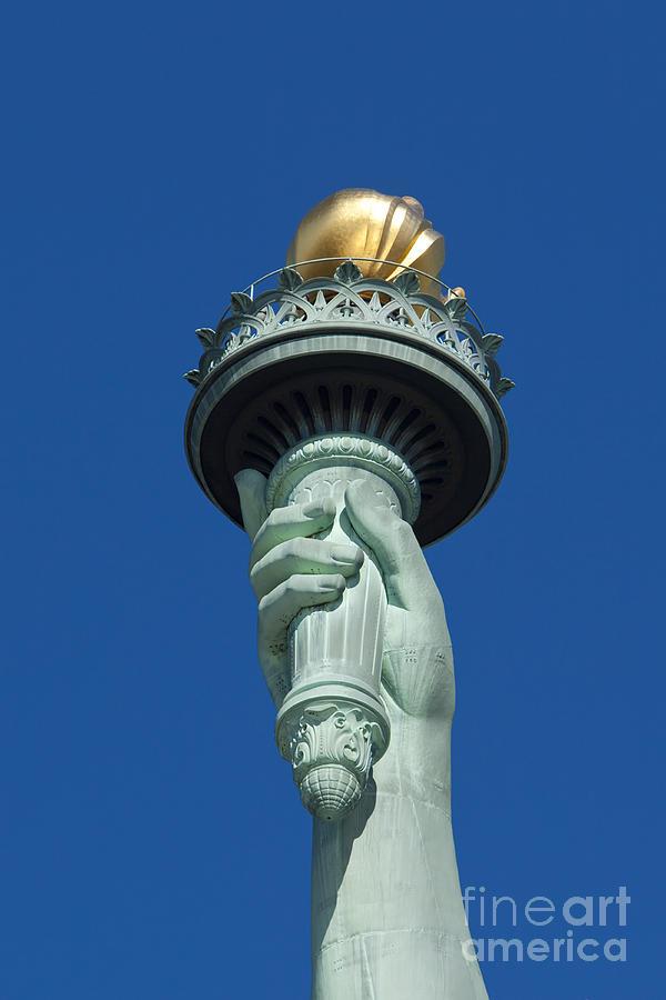 Statue Photograph - Liberty Torch by Brian Jannsen