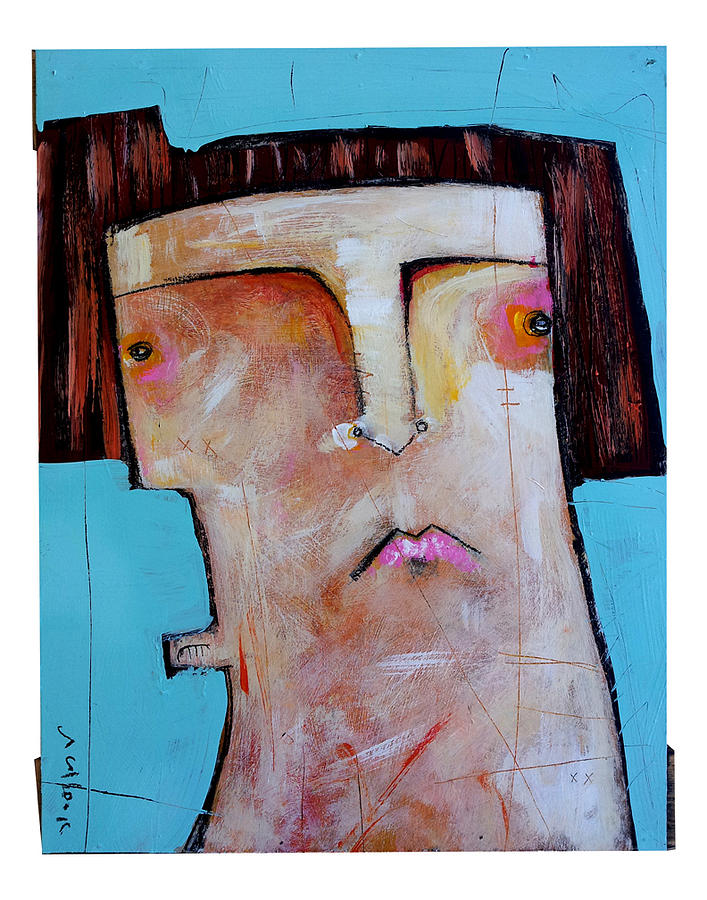 Life As Human Number Thirty Three Painting  - Life As Human Number Thirty Three Fine Art Print