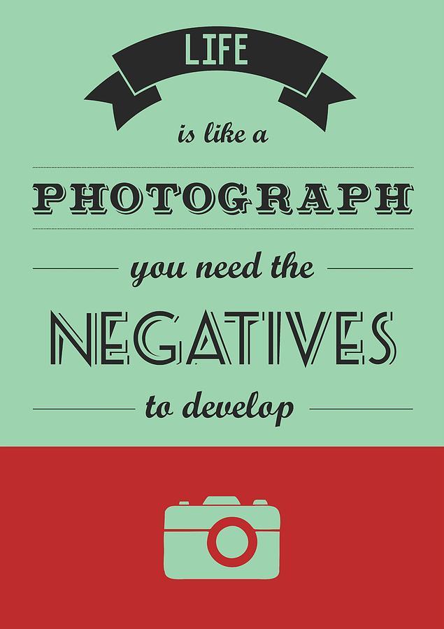 Life Inspirational Quotes Typography Digital Art