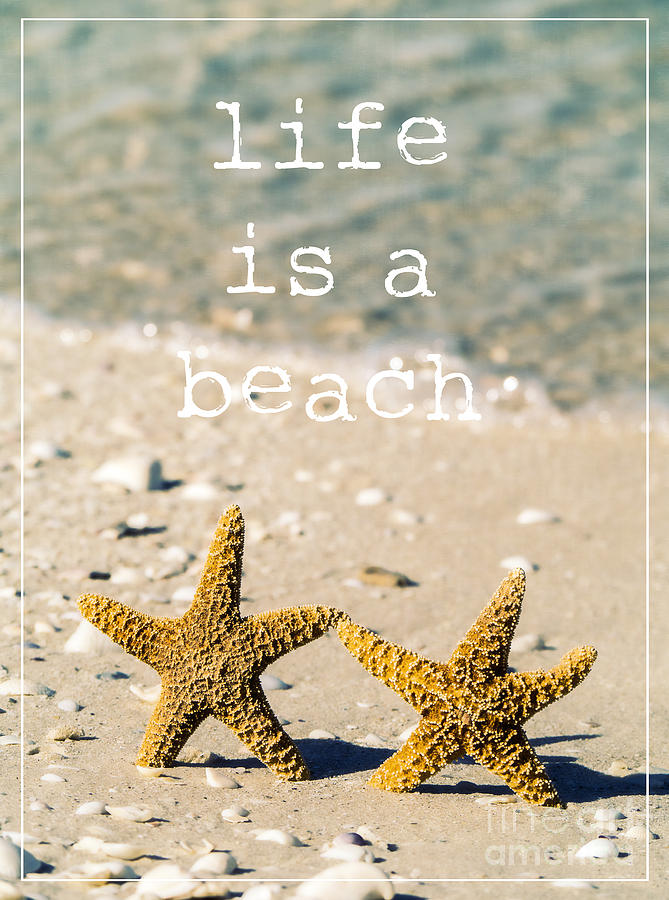Life Is A Beach Photograph  - Life Is A Beach Fine Art Print