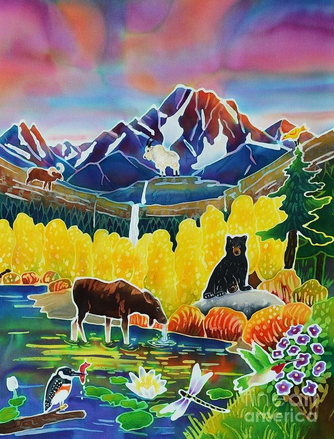 Life Of The Mountains Painting  - Life Of The Mountains Fine Art Print