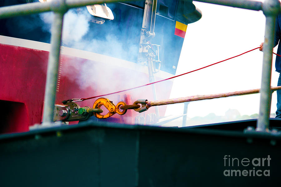 Lifeboat Chocks Away  Photograph  - Lifeboat Chocks Away  Fine Art Print