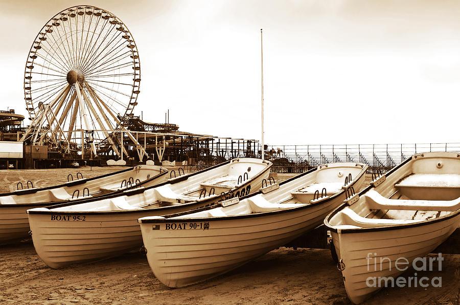 Wildwood Photograph - Lifeguard Boats by John Rizzuto
