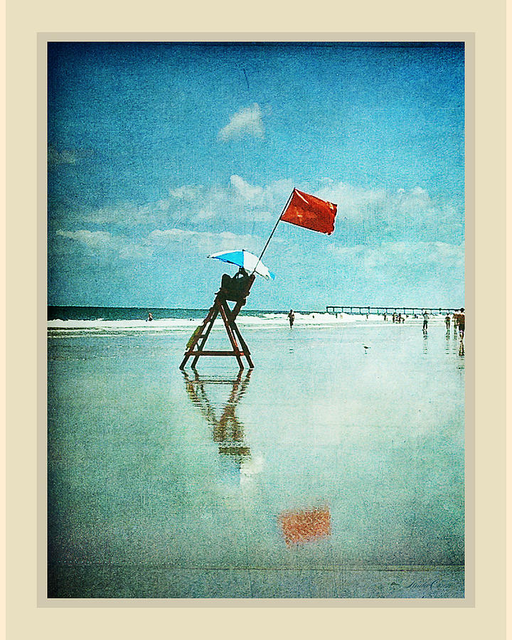 Lifeguard Flag Photograph  - Lifeguard Flag Fine Art Print