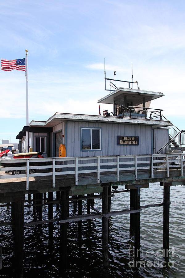 Lifeguard Headquarters On The Municipal Wharf At Santa Cruz Beach Boardwalk California 5d23827 Photograph