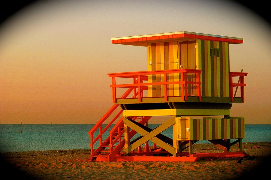 Lifeguard Tower Prints Photograph - Lifeguard Tower In Miami Beach by Monique Wegmueller
