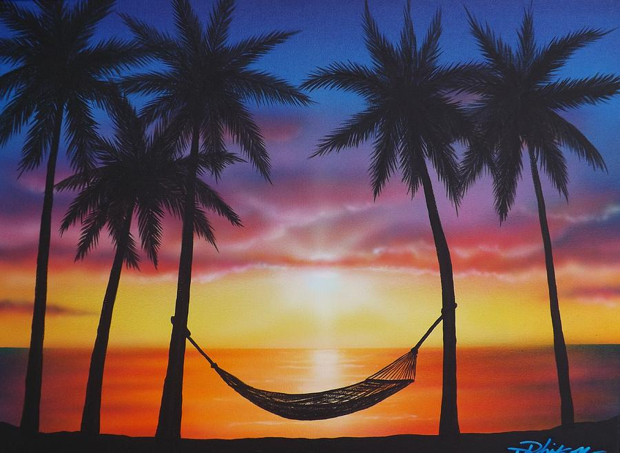 life 39 s a beach painting by darren robinson. Black Bedroom Furniture Sets. Home Design Ideas