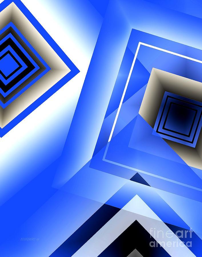 Light Blue Digital Art