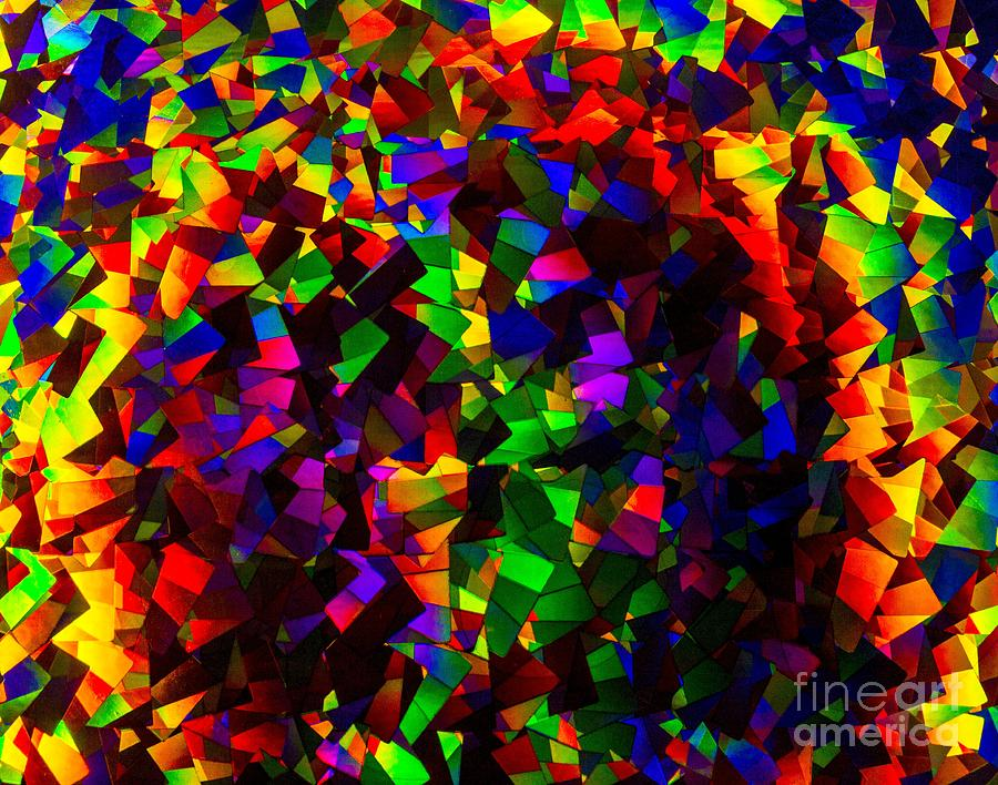 Light Emitting Diode Confetti Photograph