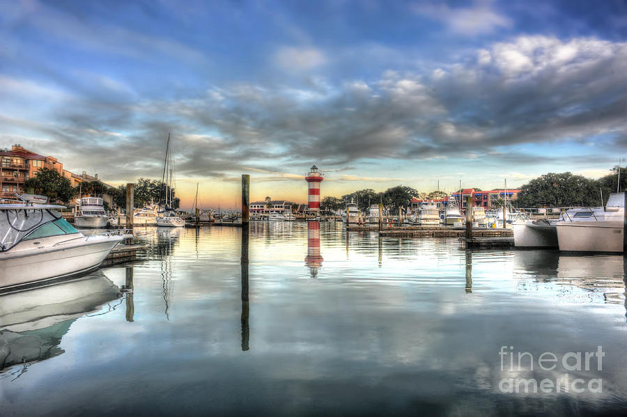 light house harbour town Hilton Head Photograph  - light house harbour town Hilton Head Fine Art Print