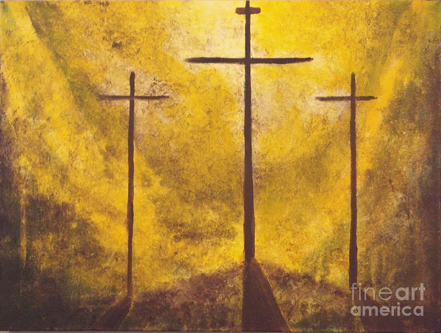 Abstract Painting Painting - Light Of Salvation by Wayne Cantrell