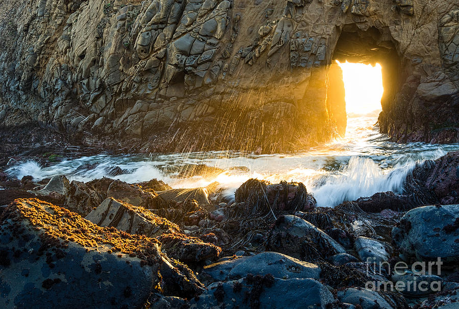 Light The Way - Arch Rock In Pfeiffer Beach In Big Sur. Photograph