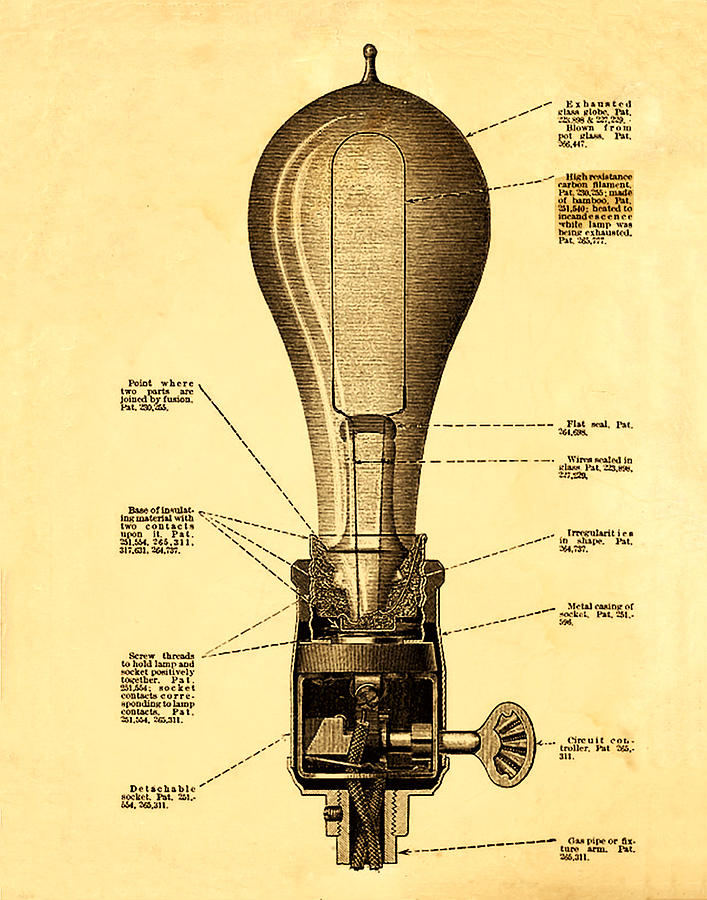 Lightbulb Patent Photograph