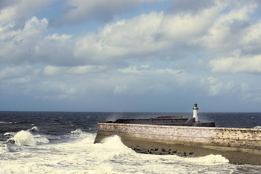 Lighthouse Photograph - Lighthouse At Whitehaven by Amanda And Christopher Elwell