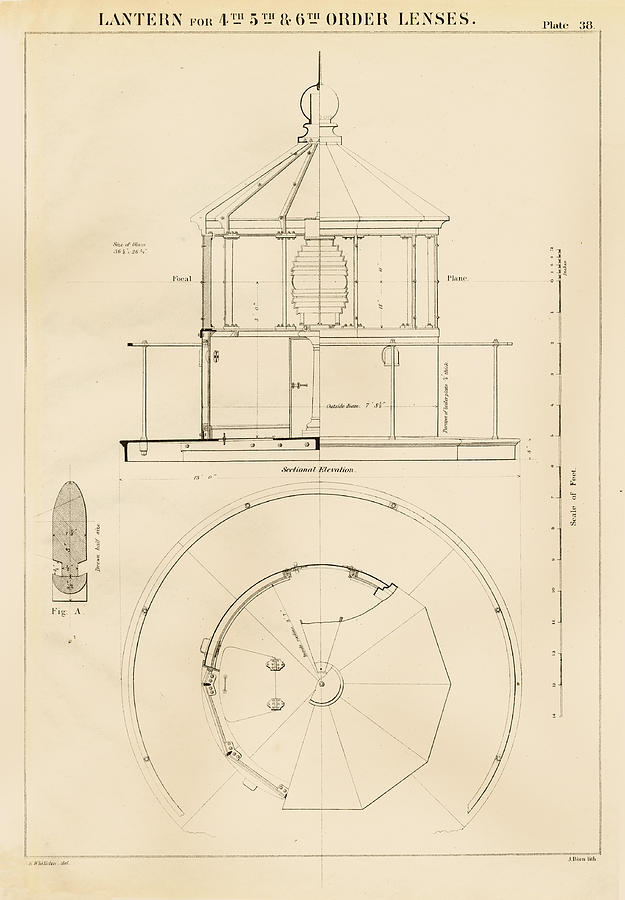 Lighthouse Lantern Drawing Drawing