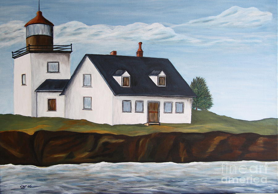 Lighthouse - New England Coast Sold Painting  - Lighthouse - New England Coast Sold Fine Art Print