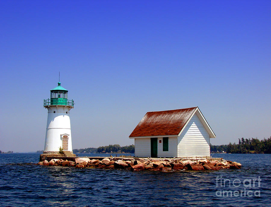 Lighthouse On The St Lawrence River Photograph  - Lighthouse On The St Lawrence River Fine Art Print