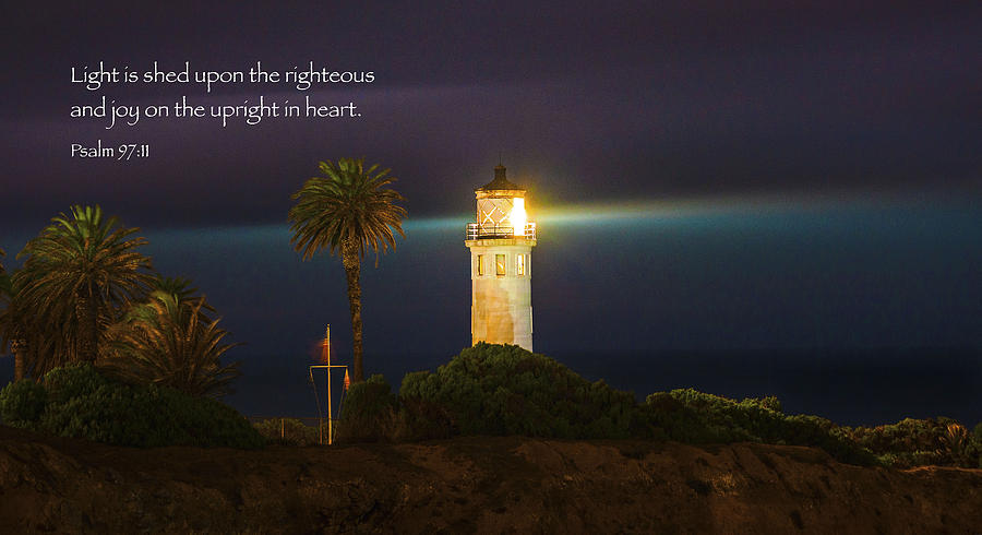 Lighthouse Scripture Art Inspirational Art Bible Verse Art Christian ...