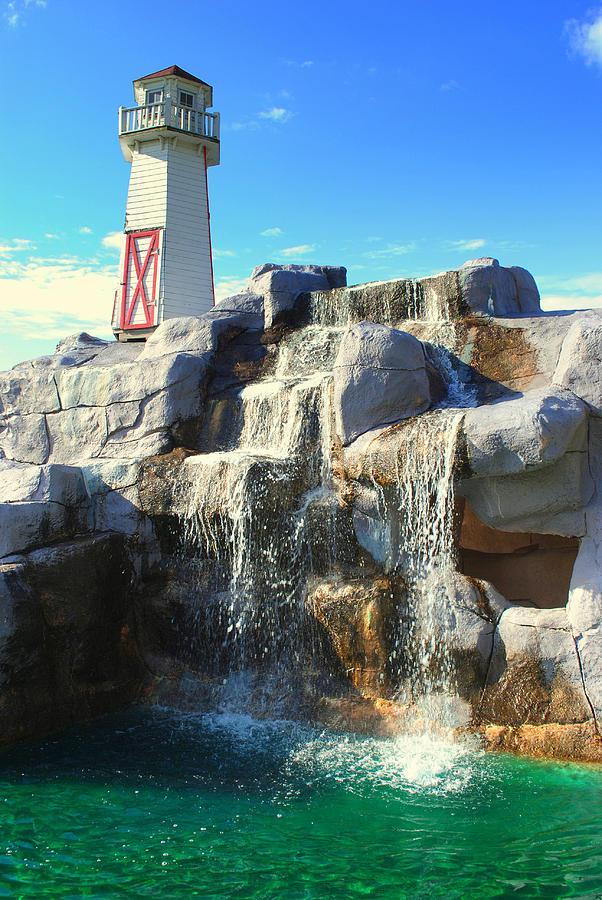 Lighthouse Waterfall Photograph