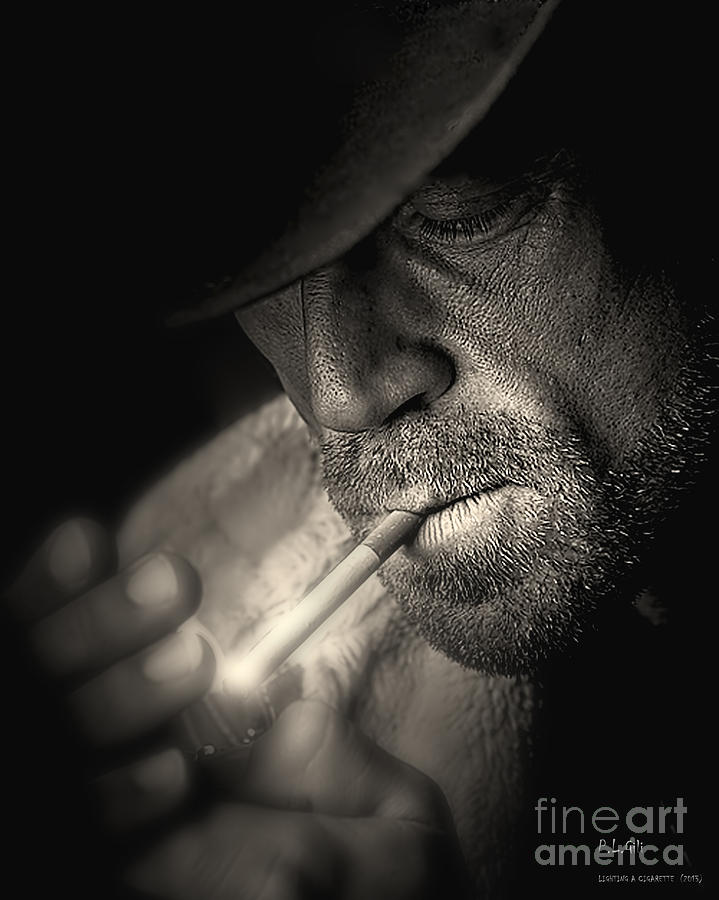 Lighting A Cigarette Photograph