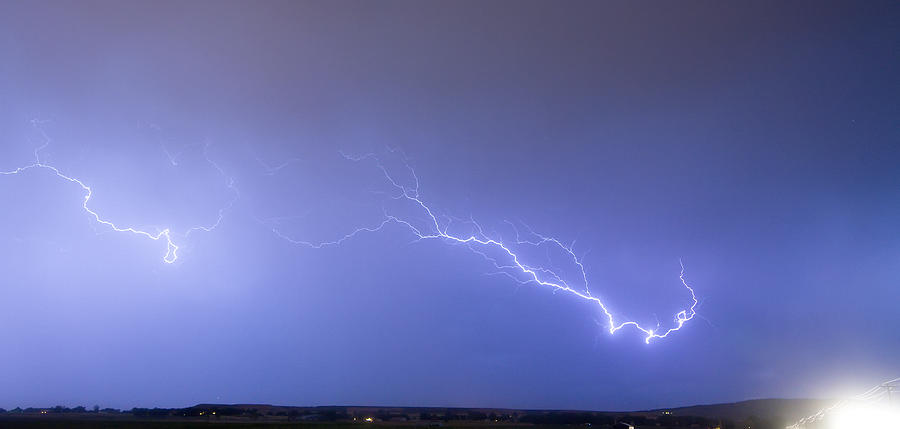 Lightning Bolts Coming In For A Landing Panorama Photograph