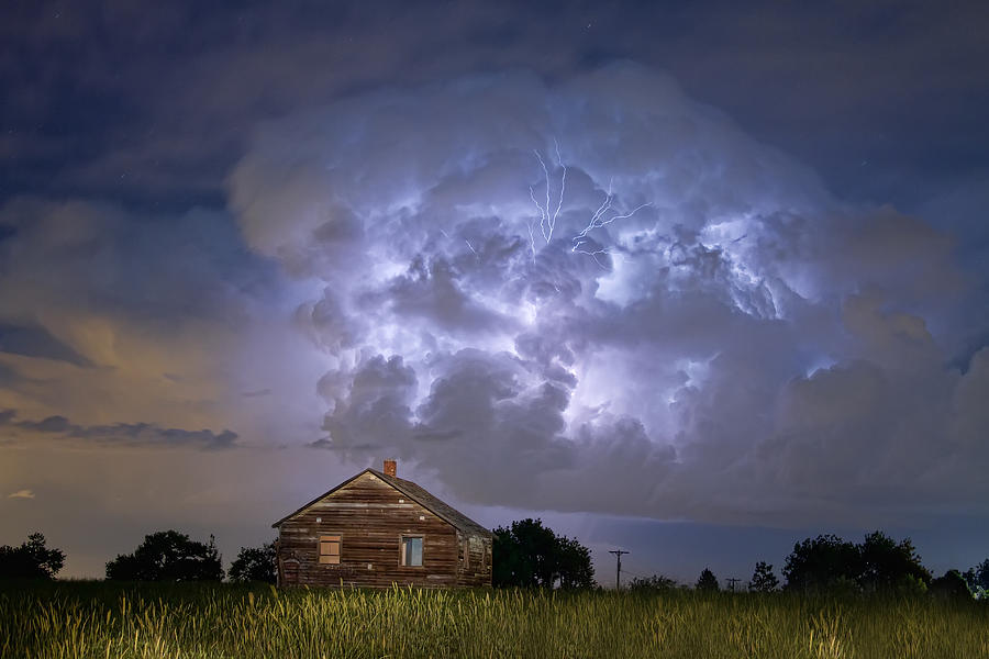 Lightning Thunderstorm Busting Out Photograph