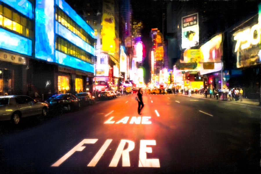 Lights Are Bright - Times Square Photograph  - Lights Are Bright - Times Square Fine Art Print