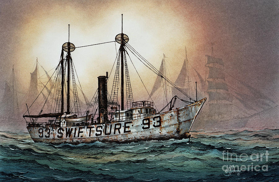Lightship Swiftsure Painting  - Lightship Swiftsure Fine Art Print