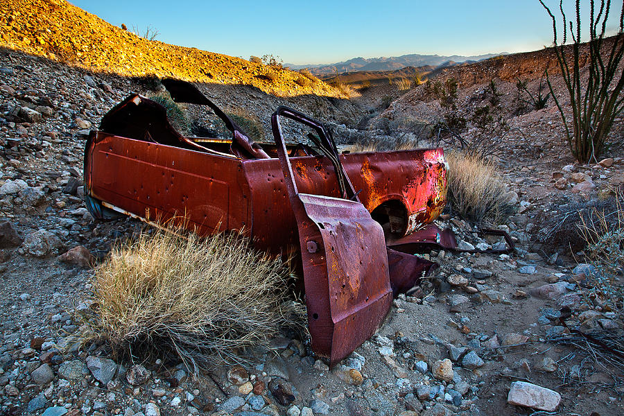 Rusted Truck Photograph - Like A Rock by Peter Tellone