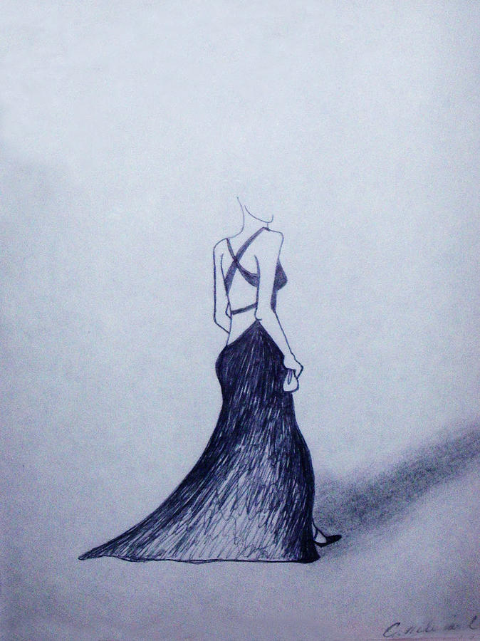 Lil Black Dress Drawing
