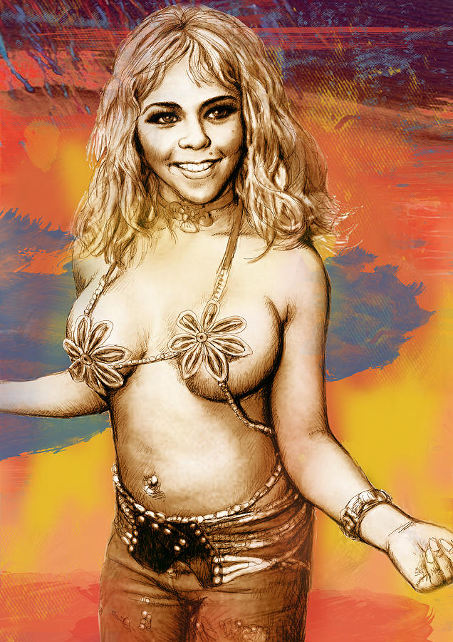 Lil Kim - Stylised Drawing Art Poster Drawing
