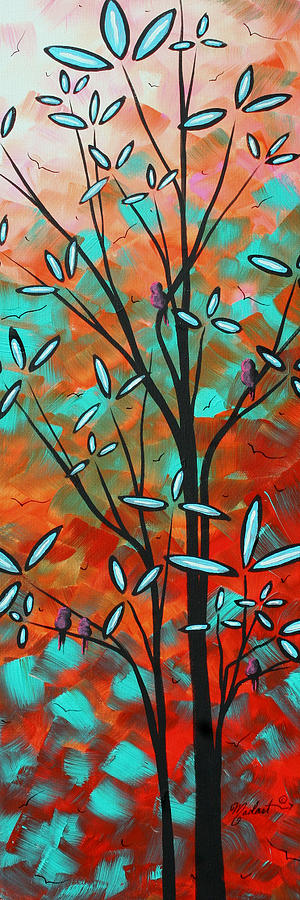 Lilly Pulitzer Inspired Abstract Art Colorful Original Painting Spring Blossoms By Madart Painting