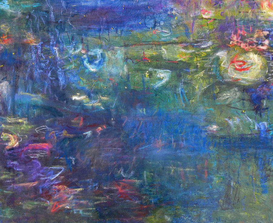 Lily And Koi Pond Painting