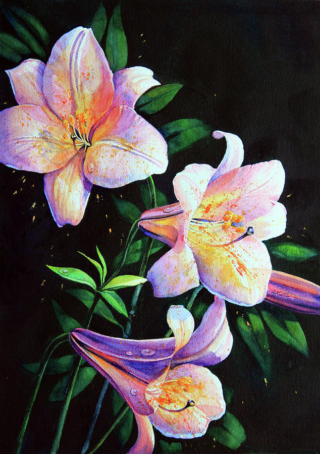 Lily Fiesta Painting