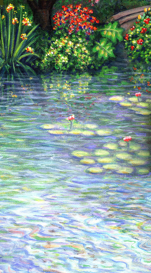 Lily Pads Triptych Part Three Painting  - Lily Pads Triptych Part Three Fine Art Print