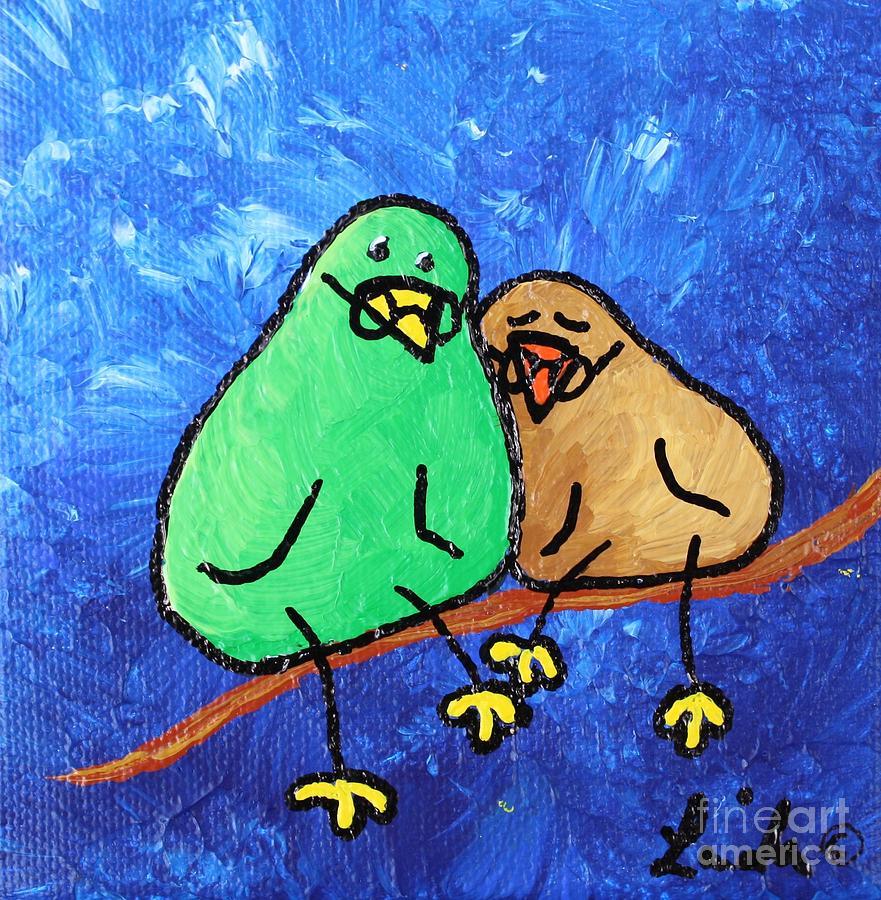 Limbbirds Painting - Limb Birds - Lasting Love by Linda Eversole
