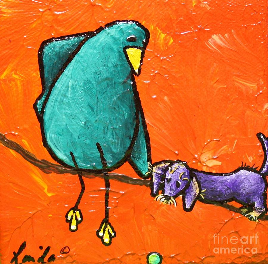 Limb Birds - You Get It Painting  - Limb Birds - You Get It Fine Art Print