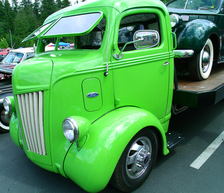 Lime ford 1947 coe truck photograph by kym backland