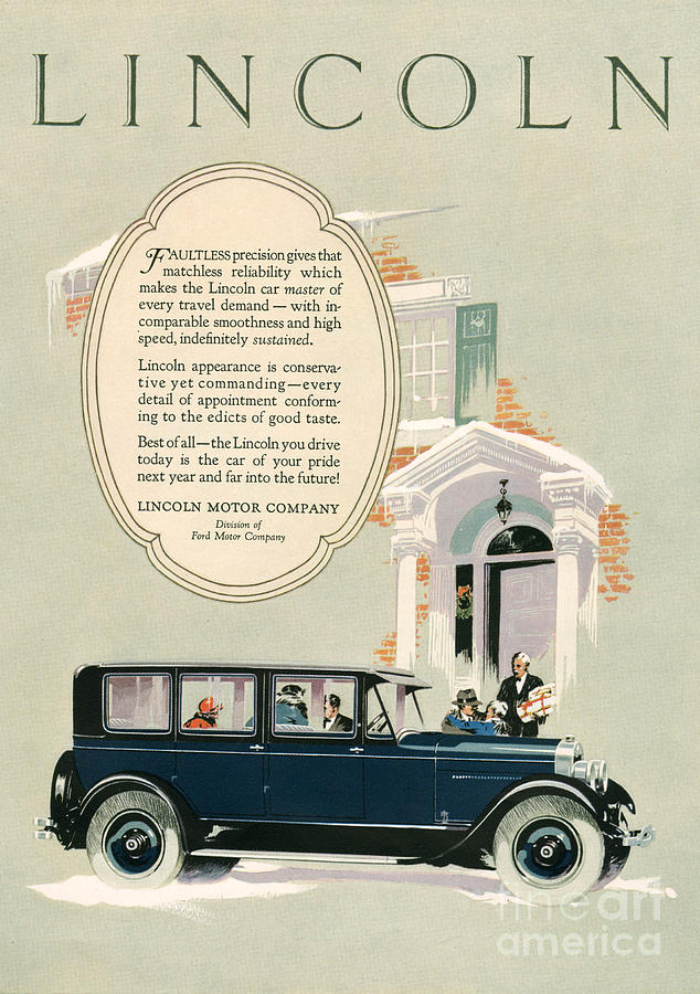 Lincoln 1926 1920s Usa Cc Cars Drawing