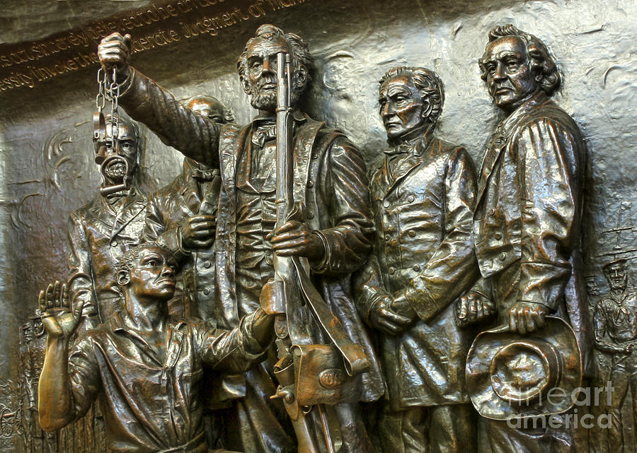 Lincoln Arming The Freed Slaves Photograph  - Lincoln Arming The Freed Slaves Fine Art Print