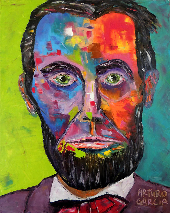 Oil On Canvas By Arturo Garcia Painting - Lincoln by Arturo Garcia