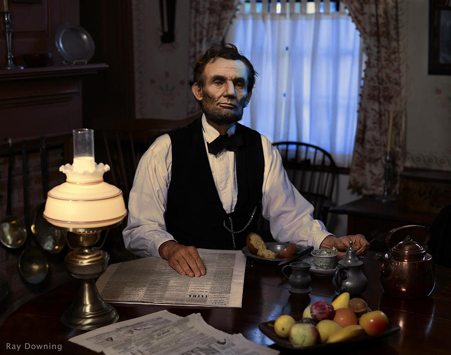 Lincoln At Breakfast 2 Digital Art  - Lincoln At Breakfast 2 Fine Art Print