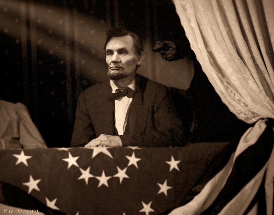 Abraham Lincoln Digital Art - Lincoln At Fords Theater by Ray Downing